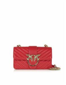Pinko Designer Handbags, Love Mini Mix Quilted Nappa Leather Shoulder Bag