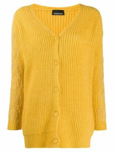 Ermanno Ermanno lace applique cardigan - Yellow