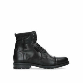 Aldo Powiel Lace Up Boot - Black Lace Up Biker Boot