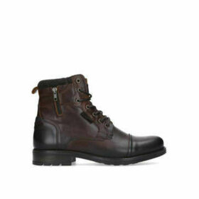 Aldo Powiel Lace Up Boot - Dark Brown Lace Up Biker Boot