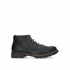 Steve Madden Mounty Trek Lace Boot - Black Hiker Boots