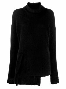 Yohji Yamamoto knitted asymmetric jumper - Black