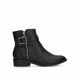 Nine West Coax - Black Ankle Boot With Buckle Detail