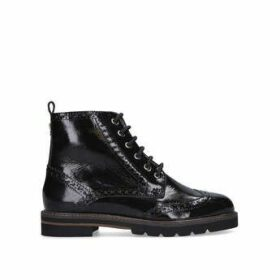 Carvela Shock - Black Patent Brogue Style Ankle Boots