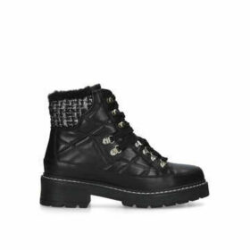 Kurt Geiger London Roman - Black Embellished Quilted Hiker Boots