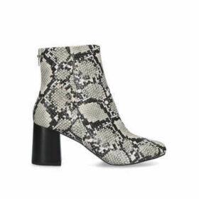 Carvela Smash - Snake Print Block Heel Ankle Boots