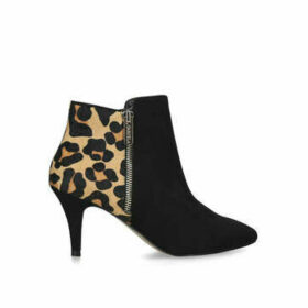 Carvela Sphinx - Black And Leopard Print Ankle Boots