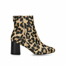 Carvela Smash - Leopard Print Block Heel Ankle Boots