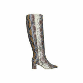 Kurt Geiger London Briya - Snake Print Block Heel Knee High Boots