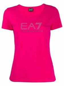 Ea7 Emporio Armani short sleeve logo T-shirt - PINK
