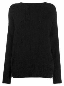Ann Demeulemeester strap back jumper - Black