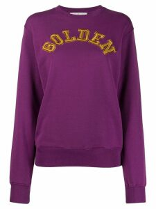 Golden Goose logo detail sweatshirt - Purple