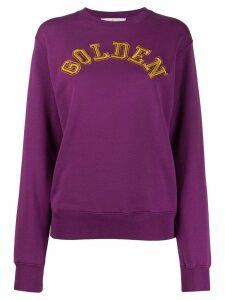 Golden Goose logo detail sweatshirt - Purple