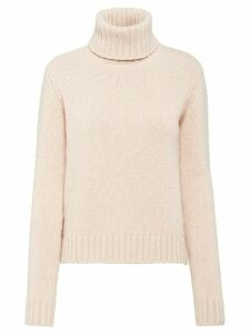 Prada roll neck knitted jumper - NEUTRALS