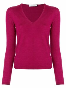 Cruciani long-sleeve fitted top - PURPLE