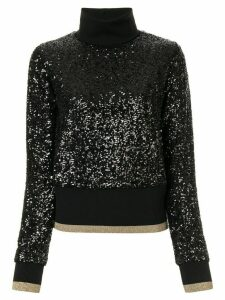 Dolce & Gabbana turtleneck sequin jumper - Black