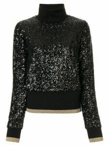 Dolce & Gabbana turtleneck sequin jumper - Black
