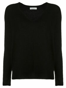 Majestic Filatures V-Neck Sweater - Black