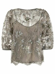 Antonio Marras beaded floral blouse - NEUTRALS