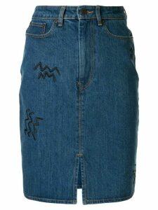 Être Cécile high waisted denim skirt - Blue