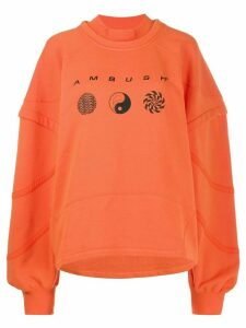 AMBUSH patchwork logo sweatshirt - Orange