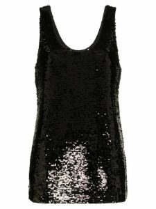 Figue Raquel sequinned top - Black