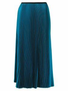 Blanca Vita pleated midi skirt - Blue