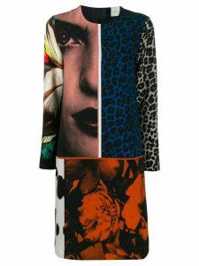 Paul Smith multi-print shift dress - Black