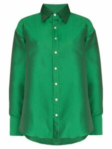 Matthew Adams Dolan oversized button-down shirt - Green