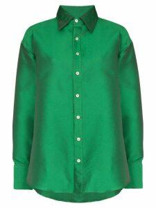 Matthew Adams Dolan oversized button-down shirt - Green