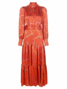 Alexis geometric Soraya midi dress - Red