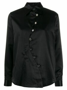 Aalto asymmetric pointed-collar shirt - Black