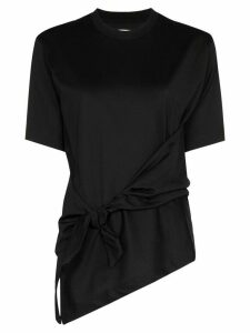Marques'Almeida side knot detail T-shirt - Black