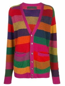 The Elder Statesman striped knit cardigan - Multicolour