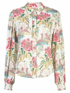 Peter Pilotto floral-print shirt - White