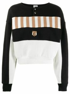 Reebok striped panel sweatshirt - Black