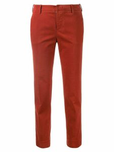Pt01 cropped slim trousers - ORANGE