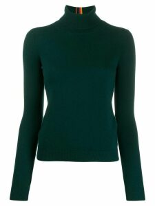 Paul Smith ribbed roll neck jumper - Green