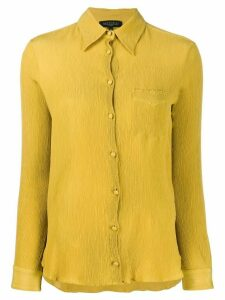 Antonelli Chico micro pleat shirt - Yellow