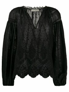Ulla Johnson floral embroidered blouse - Black