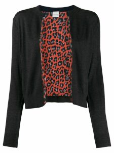 Paul Smith leopard print lined cardigan - Grey