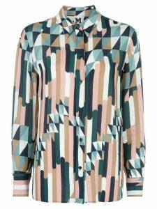 M Missoni geometric print longline shirt - PINK