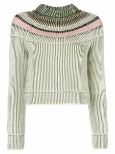 M Missoni cropped ribbed knit sweater - Green