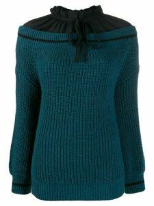 L'Autre Chose hybrid blouse jumper - Blue