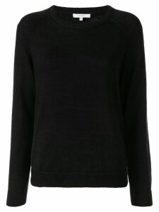 Venroy plain round neck jumper - Black