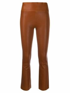 Sprwmn flared cropped trousers - Brown