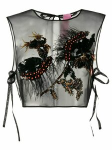 Dorothee Schumacher silk embellished sleeveless top - Black