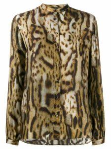 Antonelli Amedeus leopard print shirt - Brown