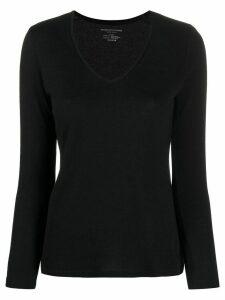 Majestic Filatures regular-fit V-neck top - Black