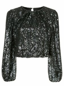 Alice+Olivia Avila sequin crop top - Black